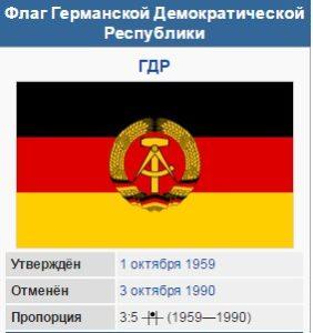 Флаг Германской Демократической Республики