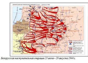Белорусская наступательная операция 23 июня – 29 августа 1944 г.
