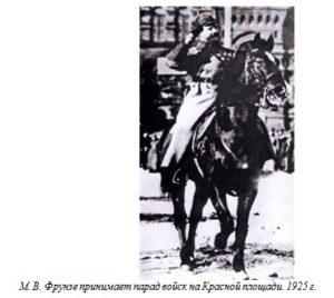 М. В. Фрунзе принимает парад войск на Красной площади. 1925 г.
