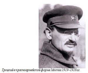 Троцкий в красноармейской форме Москва 1919–1920 гг.