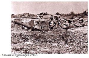 В окопах на Курской дуге, 1943 г.